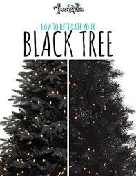 black pencil christmas tree christmas lights decoration