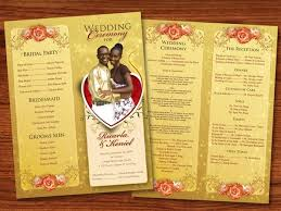 design wedding programs 30 amazing wedding designs