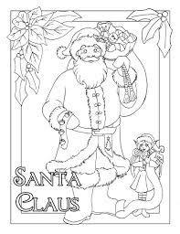 6 best images of full size printable sketches santa claus