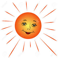 illustration of a sun with rays of a white background