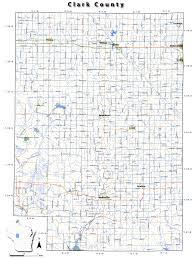 Wisconsin Road Map Clarkcounty Jpg