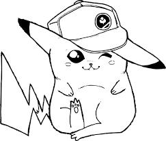 32 dessins de coloriage pikachu à imprimer