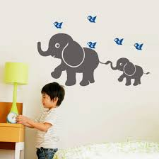 online shop free shipping wall stickers elephant birds art online shop free shipping wall stickers elephant birds art removable custom name vinyl kids nursery decor decal effect size 86x53cm aliexpress mobile
