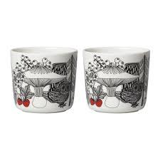 Porcelain Coffee Mugs by Buy Marimekko Oiva Veljekset Coffee Cups Set Of 2 Amara
