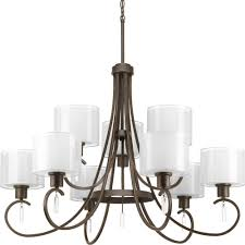 Home Depot Bronze Chandelier Progress Lighting Invite Collection 9 Light Antique Bronze