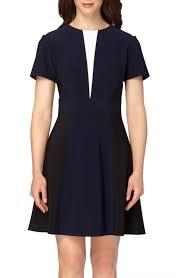 tahari colorblock fit pinterest fit flare dress and