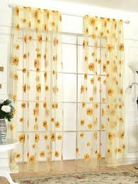 Yellow Window Curtains Window Curtains Rosegal Com