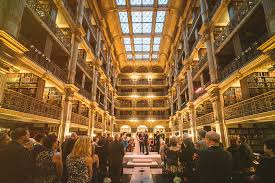 baltimore photographers peabody library wedding of leanor and michael