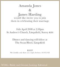 wedding announcement wording exles best of wedding invitation wording and groom hosting