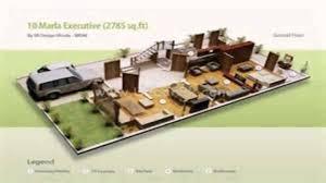marla corner plot 3d front elevation on 10 marla house corner design