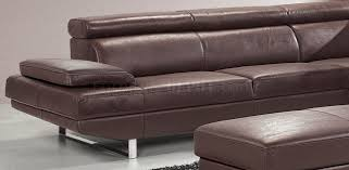 Modern Sectional Sofa Bed by Top Grain Full Leather Modern Sectional Sofa W Metal Legs