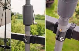 balcony of eden how to attach an umbrella to your balcony railing