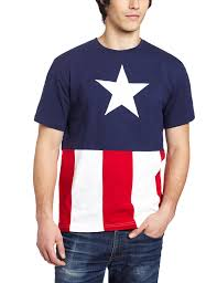 Awesome American Flag Shirts Amazon Com Captain America Cut U0026 Sew Applique T Shirt Clothing
