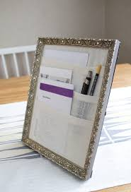 Photo Desk Organizer by Table Organizer Fabirc Pockets In The Frame For Mail And Pens So