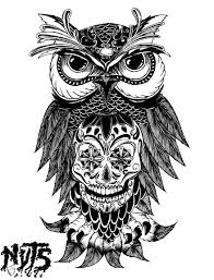 nuts owl mexican skull nuts creation pinterest mexican
