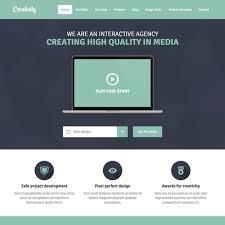 free minimal creativity responsive website template