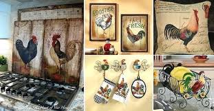 rooster decor for the kitchen and rooster home decoration ideas 65