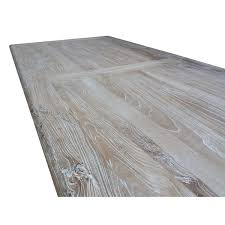White Wash Wood Titan Reclaimed Elm Wood Dining Table 2 4m Rustic White Washed