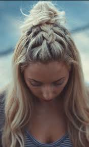 plait at back of head hairstyle this is just a french braid on top of the head http rnbjunkiex