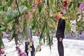 suspends floating flower garden at maison et objet