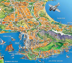South Africa Maps by Cape Town Map A Closer Look At The Famous City