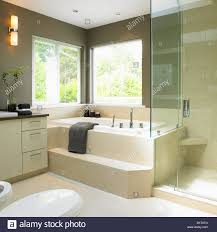 Cream And Taupe Bathroom With Soaker Tub Victoria Vancouver Island Bathroom Fixtures Vancouver Bc