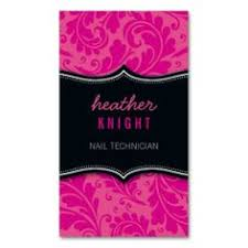 monogram nail technician business card monogram nails it is and