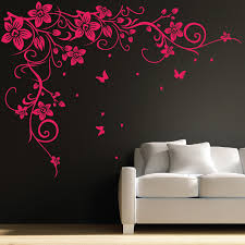 Wall Art Stickers by Butterfly Wall Decal Butterfly Vine Flower Wall Art Stickers