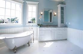 light blue and white bathrooms house design ideas