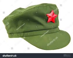 Chinese Flag Stars Meaning Chinese Red Star Cap Isolated White Stock Photo 95803222