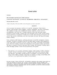 cover letter for accounting manager position 28 templates