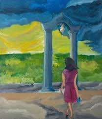 Seeking Painting Saatchi Seeking Faith Painting By Sinaru Gunawardena