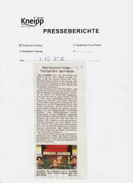 Bad Nauheim Therme Presse Kneipp Verein Bad Nauheim Friedberg Bad Salzhausen E V
