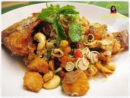 recett de cuisine ปลาท บท มทอดยำตะไคร savory recipes