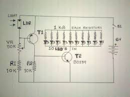 how to make emergency light with a simple 6v circuit at home