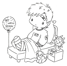 free get well coloring pages funycoloring