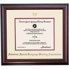 certificate frame american speech language hearing association traditional
