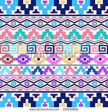 black vector seamless pattern aztec ornaments stock vector