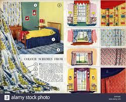 1950s uk home decorating magazine plate stock photo royalty free