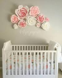 Paper flower wall by PaperFlora Pink Nursery Wall Decor Girls