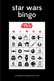 Halloween Bingo Free Printable Cards by Star Wars Party Printables A No Stress Way To A Galactic Party