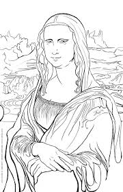 free art coloring pages free art history coloring pages famous works of art