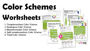 types of color schemes worksheets create art with me