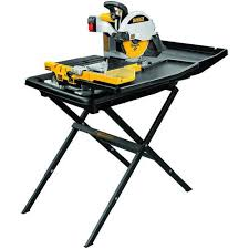 dewalt premium tile wet saw with stand 100016005 floor and decor