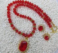 red crystal necklace set images Red crystal necklace set ec 12 smingry jewels jpg