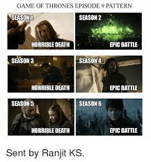 Game Of Thrones Season 3 Meme - game of thronesepisode 9 pattern season 1 season 2 epic battle