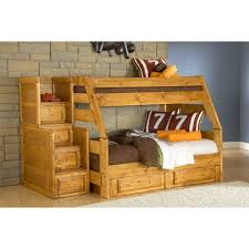 Bunk Beds  Oak Beds Queen Size White Wood Futon Beds Bunk Bed - Wood bunk bed with futon