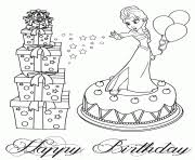 elsa cake disney coloring pages printable