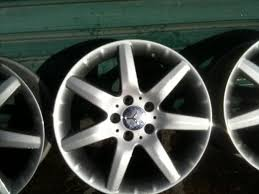 mercedes 17 inch rims genuine mercedes 7 spoke alloys 17 inch freshly refurbed