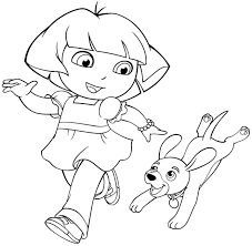 25 wonderful dora explorer coloring pages